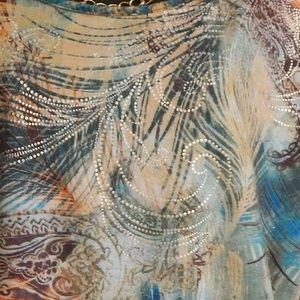 White Stag Tops - 16/18 Metallic Feather Top
